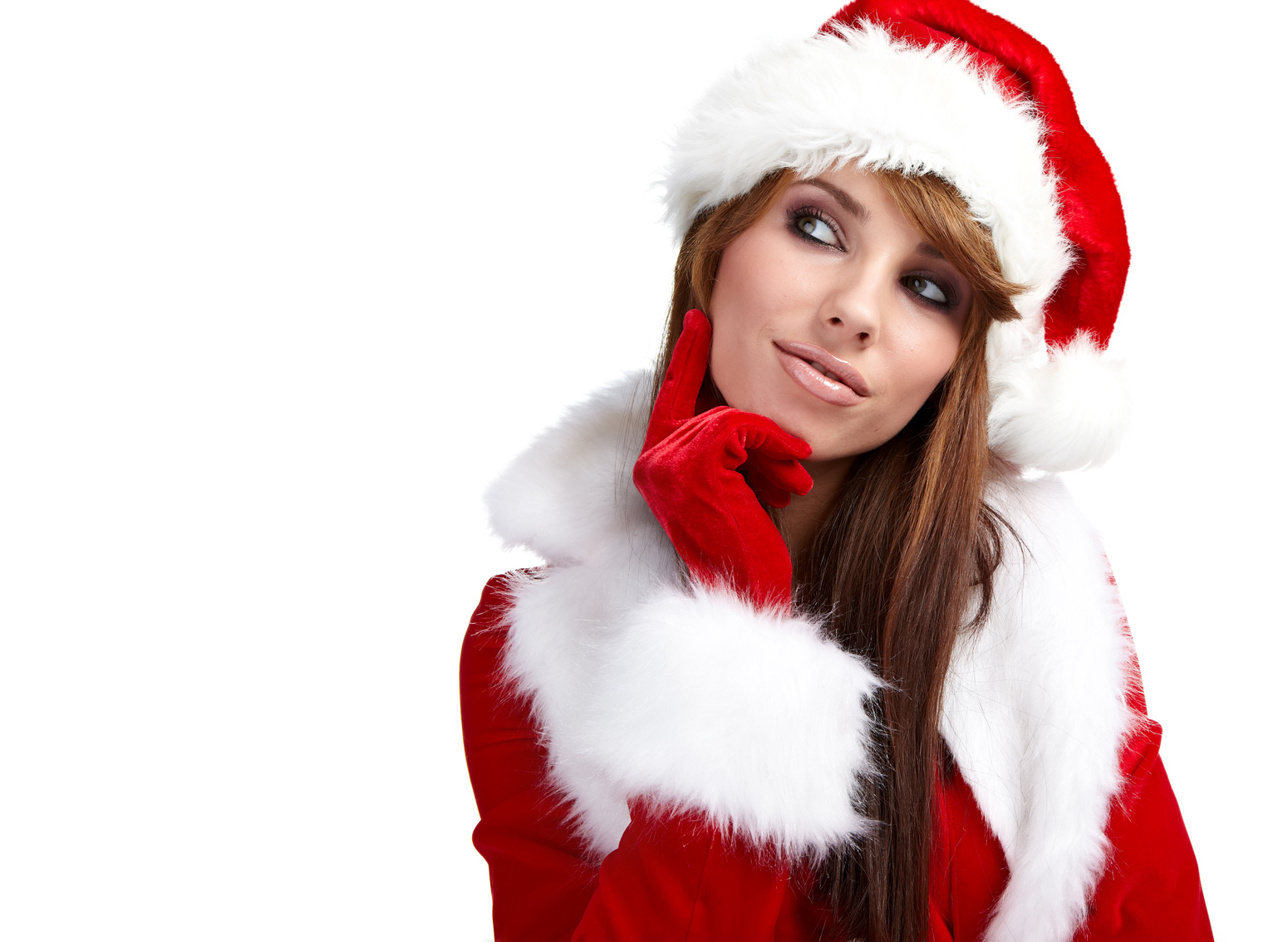 Santa Girl Could Someone Cut This Please Stock
