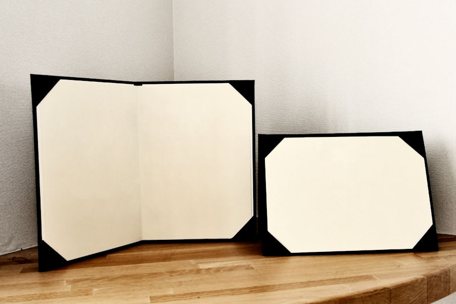 photo frames on table