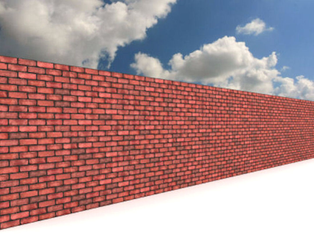 image gallery long brick wall