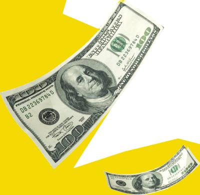 dollar bills falling on - photo #24