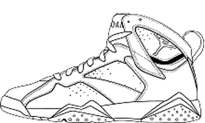 Retro 7 Jordan Coloring Page