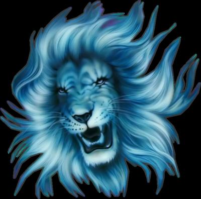 Blue Lion Head Logo