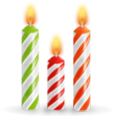 PSD Detail | Birthday Candles | Official PSDs