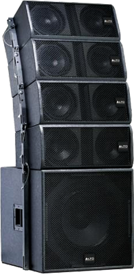 concert stage speakers. black alto concert stage speakers psd e