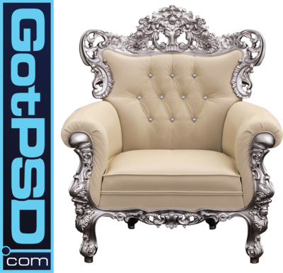 PSD Detail Creme King Chair