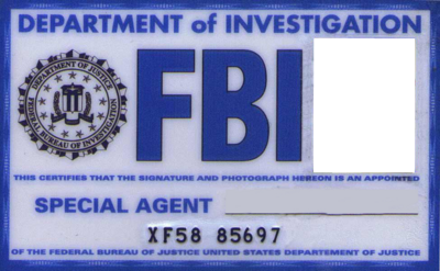 PSD Detail   FBI ID card blank   Official PSDs