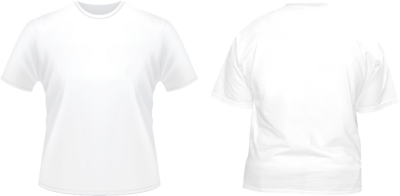 PSD Detail | Front & Back White Tshirt Template | Official PSDs