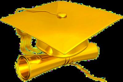 gold cap diploma psd