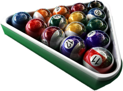 glass pool balls official psds