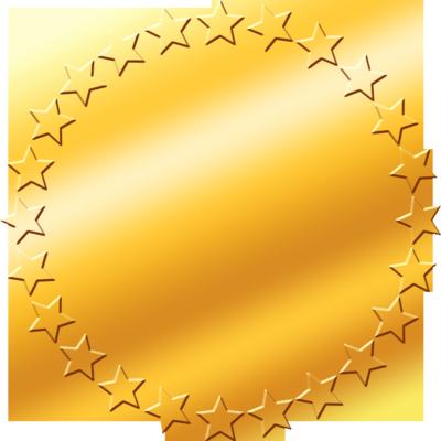 Pics Photos - Gold Star Stars Png Transparent Frame Border Deco Nenaio