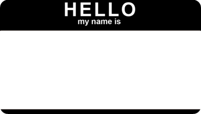 Hello name tag template car interior design for Hello my name is nametag template