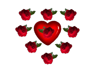 pictures of hearts and roses. Hearts and Roses PSD