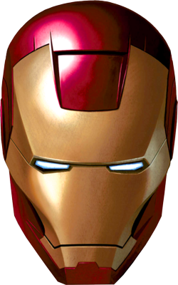 iron man face mask template - 250px