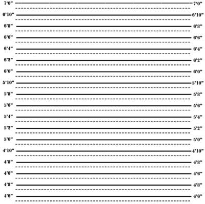 PSD Detail   Mugshot Height Chart   Official PSDs