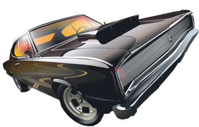 Psd Detail Muscle Car Vector Official Psds