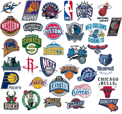 nba teams. NBA Team Logo Compilation PSD