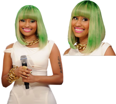 Nicki Minaj Green Wig | PSD Detail LADIES. Nicki Minaj Green Wig PSD