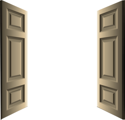 Open Door Clipart delighful double doors clipart design wooden in decorating