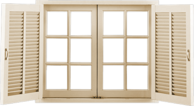 PSD Detail | Open Window with Shutters | Official PSDs
