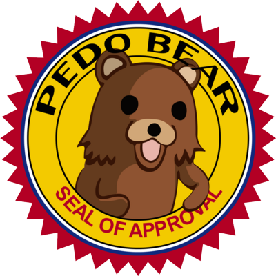 Pedo Bear - Seal of Approval badge | PSD Detail