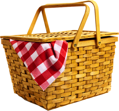 Psd detail picnic basket official psds for Set de table transparent