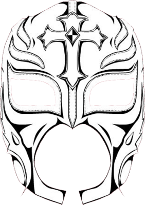 How To Draw Rey Mysterio Mask Sketch Coloring Page Mysterio Mask Coloring Pages