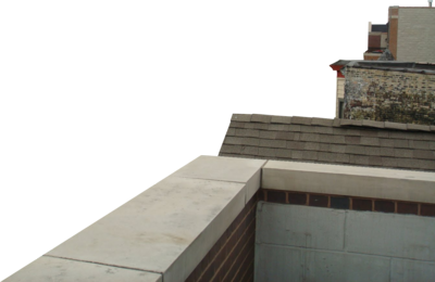Psd Detail Rooftop Ledge Corner With Buildings