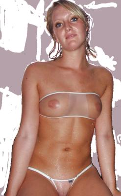 Transparent swimsuits