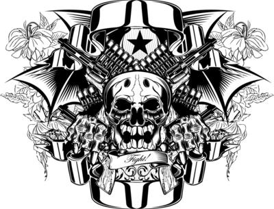 Gangster Skull Tattoo Designs