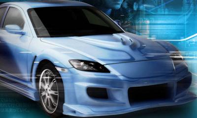 PSD Detail | Tokyo Drift - Blue Car | Official PSDs