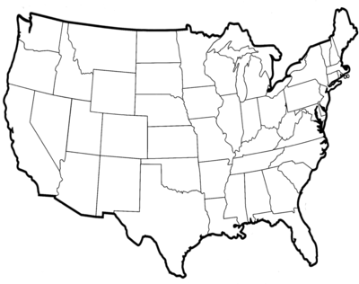 Blank United States Of America Map America Map United States Of