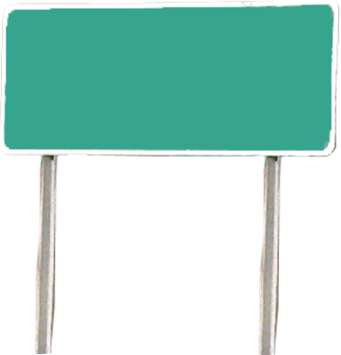 PSD Detail | blank street sign | Official PSDs
