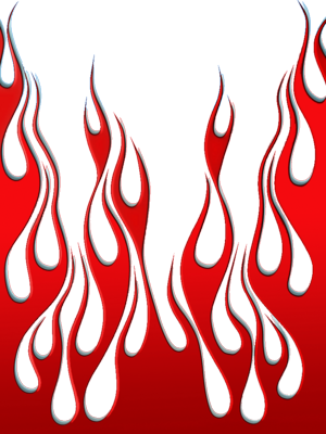 PSD Detail | red flames vector | Official PSDs