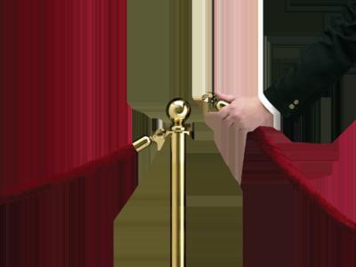 velvet rope opening
